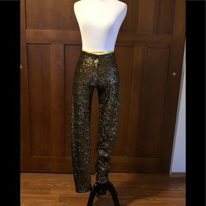 Alice + Olivia Gold Sequin Leggings (Holiday!)